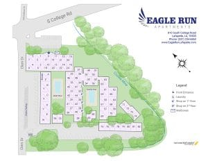 Eagle Run Apartments site map